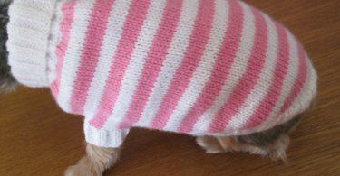 manteau-chien-en-laine-rose-et-blanc