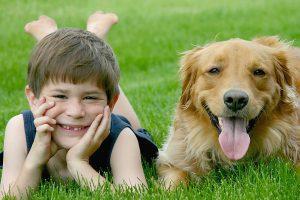 petit garçon et son chien