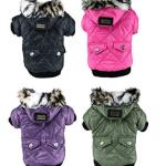 manteau petit chien hiver avec polaire et capuche